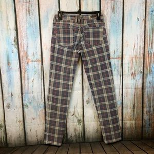 Kut From the Kloth Diana Skinny Plaid Jeans Size 2